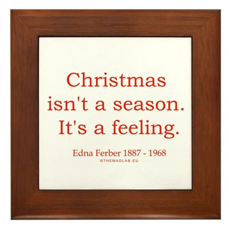 Edna Ferber 1 Framed Tile