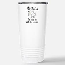 Montana Sheep Stainless Steel Travel Mug