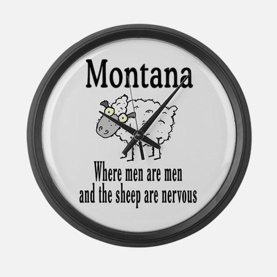 Montana Sheep Large Wall Clock