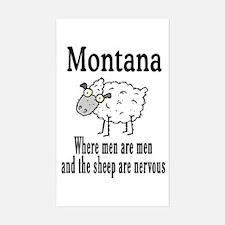 Montana Sheep Rectangle Decal