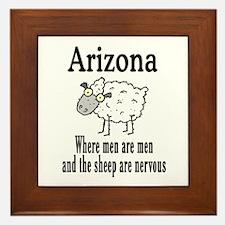 Arizona Sheep Framed Tile