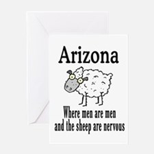 Arizona Sheep Greeting Card