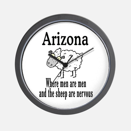 Arizona Sheep Wall Clock
