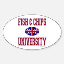 FISH AND CHIPS Oval Decal