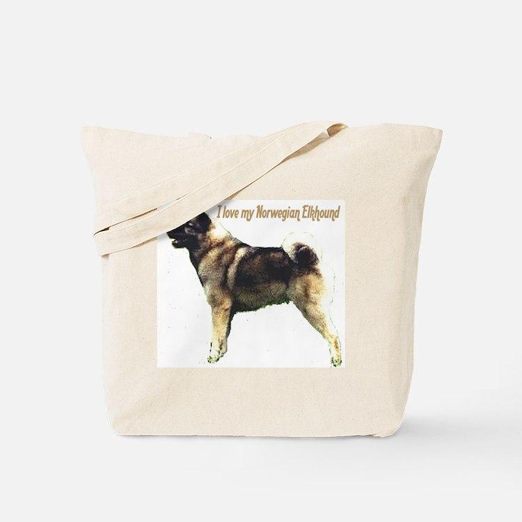 """""""Norwegian Elkhound"""" Tote Bag"""