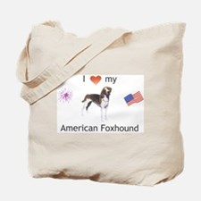 """I Love My American Foxhound"" Tote Bag"