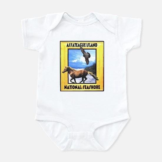 Assateague island national Se Infant Bodysuit