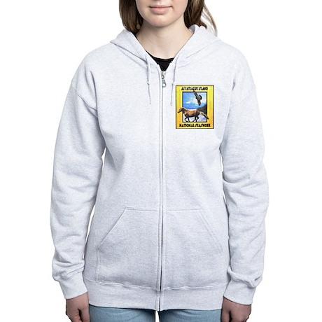 Assateague island national Se Women's Zip Hoodie