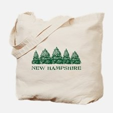 NH Winter Evergreens Tote Bag
