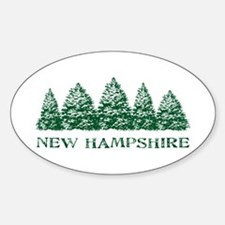 NH Winter Evergreens Oval Decal