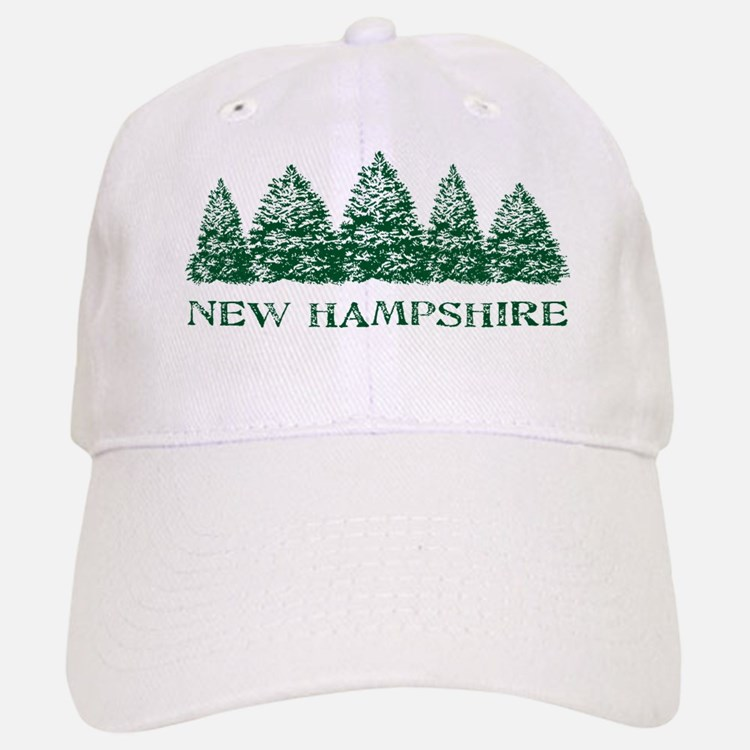 NH Winter Evergreens Baseball Baseball Cap