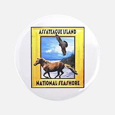"""Assateague island national Se 3.5"""" Button"""