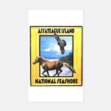 Assateague island national Se Rectangle Decal