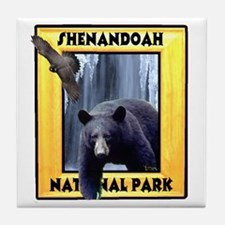 Shenandoah Nationl Park Bear Tile Coaster