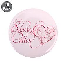 """Edward Cullen Heart 3.5"""" Button (10 pack)"""