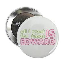 """Xmas Edward 2.25"""" Button"""