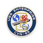 """USS Enterprise (CVN 65) 3.5"""" Button (100 pack)"""