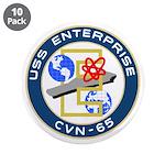 """USS Enterprise (CVN 65) 3.5"""" Button (10 pack)"""