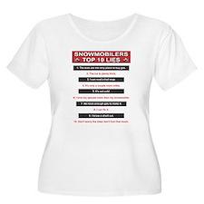 Snowmobilers Top Ten Lies T-Shirt