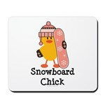 Snowboard Chick Mousepad