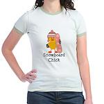 Snowboard Chick Jr. Ringer T-Shirt