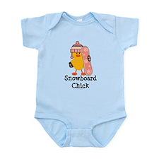Snowboard Chick Infant Bodysuit