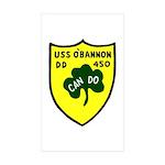 USS O'Bannon (DD 450) Rectangle Sticker 50 pk)