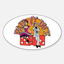 Pair O' Dice Oval Decal
