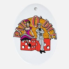 Pair O' Dice Oval Ornament