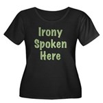 Irony Women's Plus Size Scoop Neck Dark T-Shirt