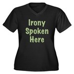 Irony Women's Plus Size V-Neck Dark T-Shirt