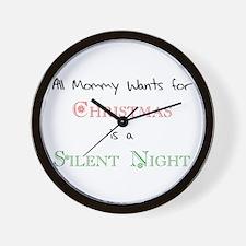 Mommy Xmas Wall Clock