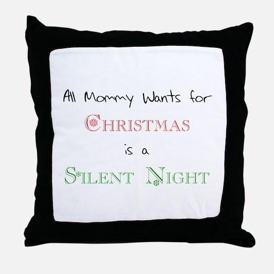 Mommy Xmas Throw Pillow