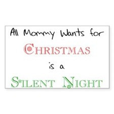 Mommy Xmas Rectangle Decal