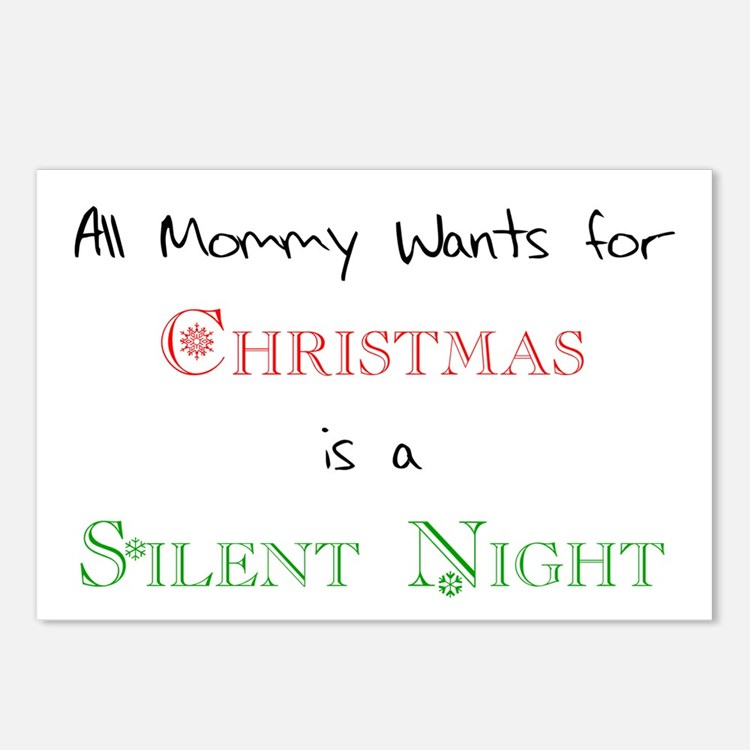 Mommy Xmas Postcards (Package of 8)