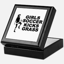 Girls Soccer Kicks Keepsake Box