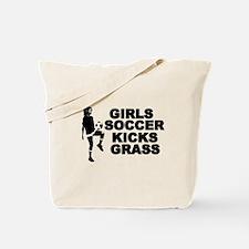 Girls Soccer Kicks Tote Bag