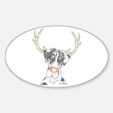 Rednose NH Danedeer Oval Decal