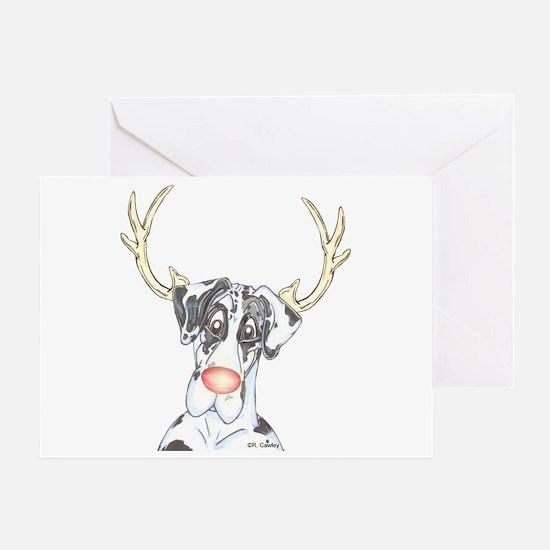 Rednose NH Danedeer Greeting Card