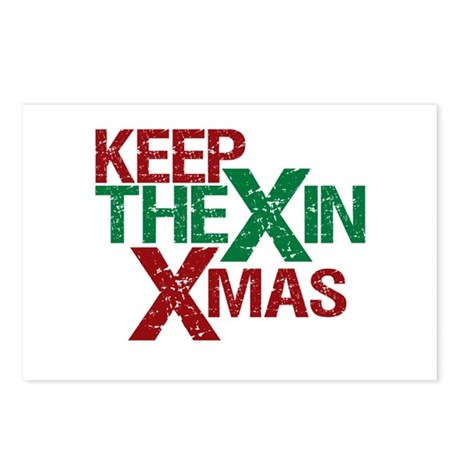 Keep the X in Xmas Postcards (Package of 8)