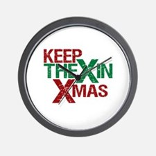 Keep the X in Xmas Wall Clock
