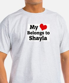 My Heart: Shayla Ash Grey T-Shirt