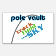 Pole Vault Sky Rectangle Decal