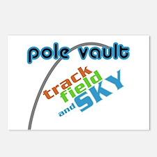 Pole Vault Sky Postcards (Package of 8)