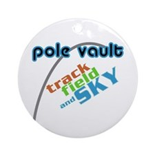 Pole Vault Sky Ornament (Round)