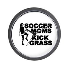 Soccer Moms Kick Grass Wall Clock