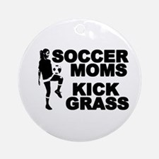 Soccer Moms Kick Grass Ornament (Round)