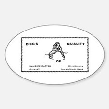 MAURICE CARVER Oval Decal