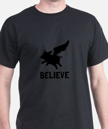 Flying Pig Believe T-Shirt