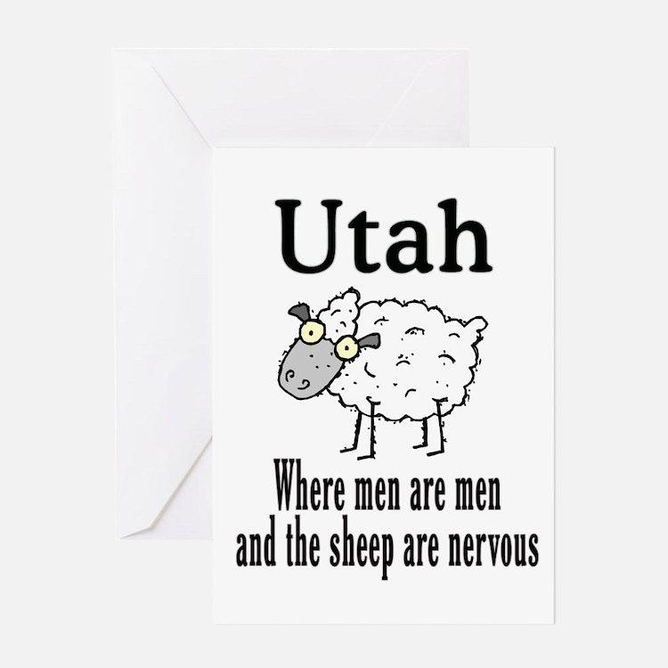 Utah Sheep Greeting Card